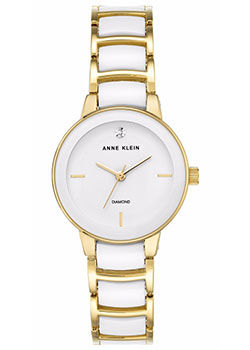 fashion наручные  женские часы Anne Klein 2960WTGB. Коллекция Diamond