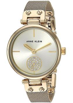 fashion наручные  женские часы Anne Klein 3000CHGB. Коллекция Crystal.