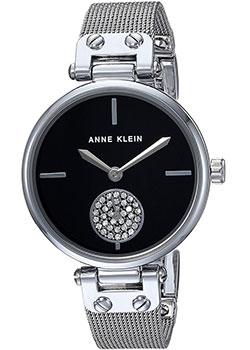 Fashion наручные женские часы Anne Klein 3001BKSV. Коллекция Crystal фото