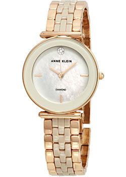 fashion наручные  женские часы Anne Klein 3158TPRG. Коллекция Diamond.