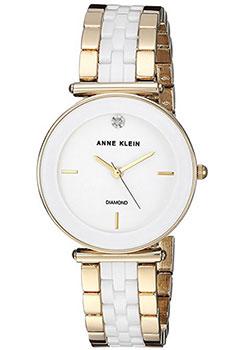 fashion наручные  женские часы Anne Klein 3158WTGB. Коллекция Diamond