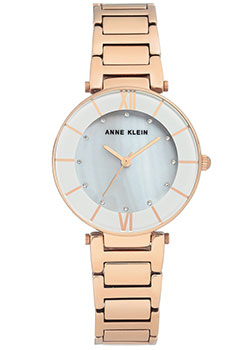 fashion наручные  женские часы Anne Klein 3198LGRG. Коллекция Crystal.