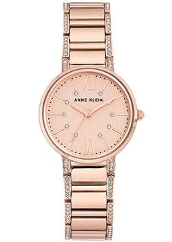 fashion наручные  женские часы Anne Klein 3200RGRG. Коллекция Crystal.