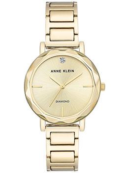 fashion наручные  женские часы Anne Klein 3278CHGB. Коллекция Diamond.