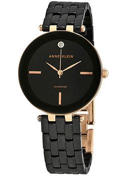 fashion наручные  женские часы Anne Klein 3310BKRG. Коллекция Diamond.