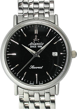 Купить Швейцарские наручные мужские часы Atlantic 50346.41.61. Коллекция Seacrest