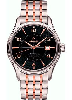 Швейцарские наручные мужские часы Atlantic 52753.41.65RM. Коллекция Worldmaster фото
