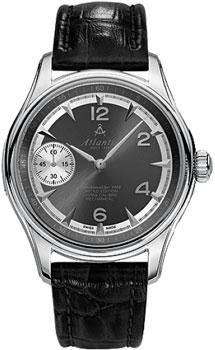 Швейцарские наручные  мужские часы Atlantic 52950.41.45S. Коллекция Worldmaster от Bestwatch.ru
