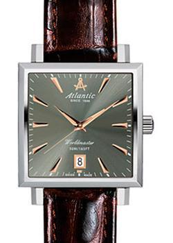Швейцарские наручные мужские часы Atlantic 54350.41.41R. Коллекция Worldmaster