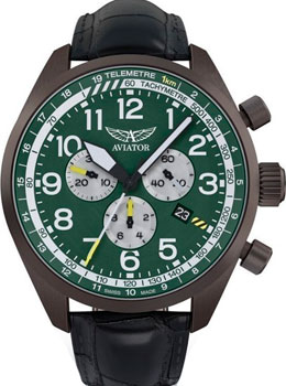 Швейцарские наручные мужские часы Aviator V.2.25.7.171.4. Коллекция Airacobra фото