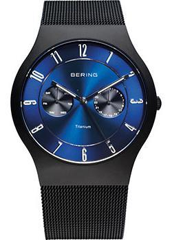 fashion наручные  мужские часы Bering 11939-078. Коллекция Titanium.