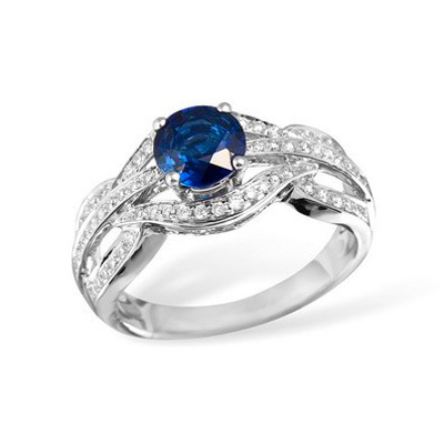 Золотое кольцо K023863WGsap