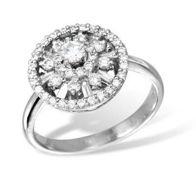 Золотое кольцо K026476WG