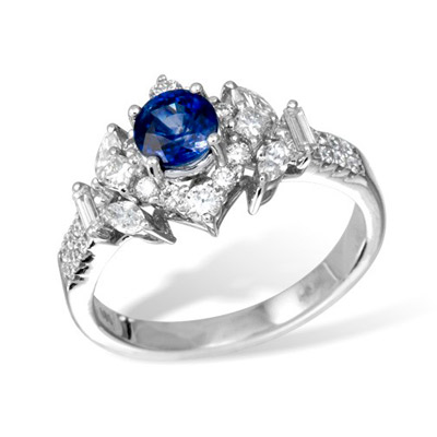 Золотое кольцо K028403WGsap