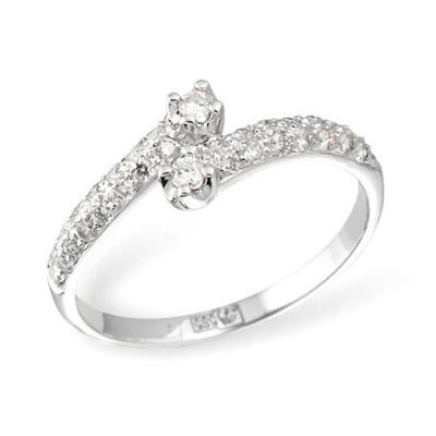 Золотое кольцо  KR02976WG