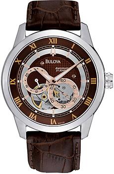 Японские наручные  мужские часы Bulova 96A120. Коллекция Automatic