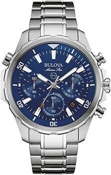 Японские наручные  мужские часы Bulova 96B256. Коллекция Marine Star