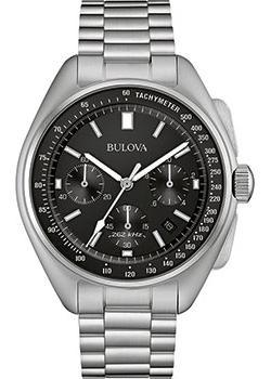 Японские наручные  мужские часы Bulova 96B258. Коллекция Lunar Pilot Chronograph