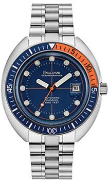 Японские наручные мужские часы Bulova 96B321. Коллекция Oceanographer фото