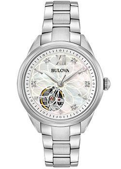 Японские наручные женские часы Bulova 96P181. Коллекция Automatic фото