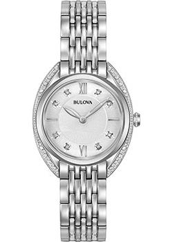 Японские наручные  женские часы Bulova 96R212. Коллекция Diamonds