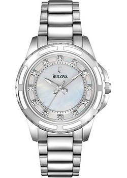 Японские наручные  женские часы Bulova 96S144. Коллекция Diamonds