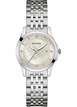 Японские наручные  женские часы Bulova 96S160. Коллекция Diamonds