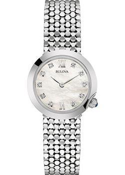 Японские наручные  женские часы Bulova 96S163. Коллекция Diamonds