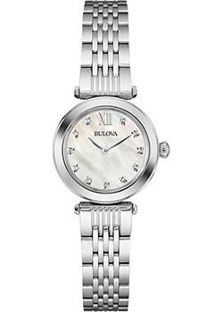 Японские наручные  женские часы Bulova 96S167. Коллекция Diamonds