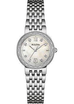 Японские наручные  женские часы Bulova 96W203. Коллекция Diamonds