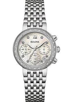 Японские наручные  женские часы Bulova 96W204. Коллекция Diamonds