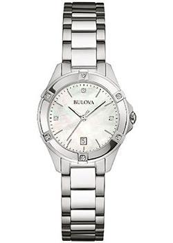 Японские наручные  женские часы Bulova 96W205. Коллекци Diamonds
