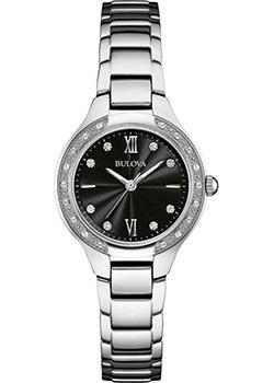 Японские наручные  женские часы Bulova 96W207. Коллекция Diamonds