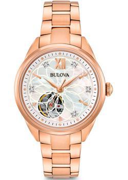 Японские наручные  женские часы Bulova 97P121. Коллекция Automatic Ladies
