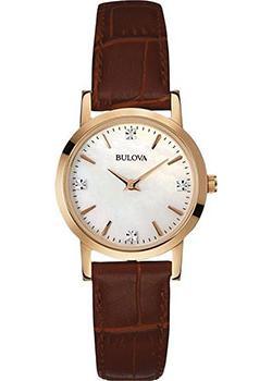 Японские наручные  женские часы Bulova 97S105. Коллекция Diamonds