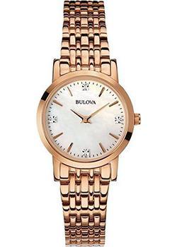 Японские наручные  женские часы Bulova 97S106. Коллекция Diamonds