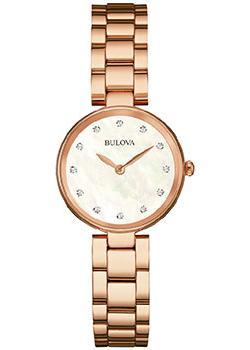 Японские наручные  женские часы Bulova 97S111. Коллекция Diamonds