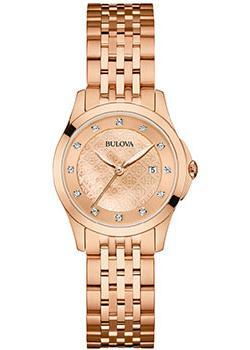 Японские наручные  женские часы Bulova 97S112. Коллекция Diamonds