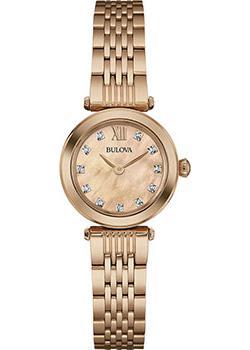 Японские наручные  женские часы Bulova 97S116. Коллекция Diamonds
