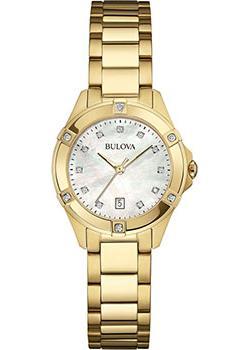 Японские наручные  женские часы Bulova 97W100. Коллекция Diamonds