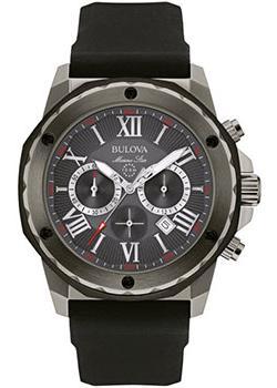 Японские наручные  мужские часы Bulova 98B259. Коллекция Marine Star