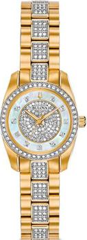 Японские наручные  женские часы Bulova 98L241. Коллекция Crystal Ladies