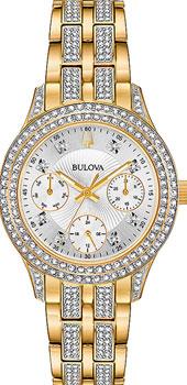 Японские наручные  женские часы Bulova 98N112. Коллекция Crystal Ladies