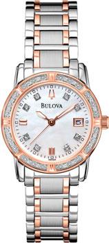 Японские наручные  женские часы Bulova 98R199. Коллекция Ladies Diamond
