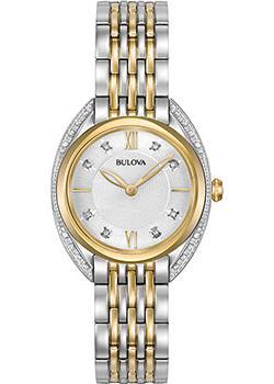 Японские наручные  женские часы Bulova 98R229. Коллекция Diamonds