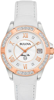 Японские наручные  женские часы Bulova 98R233. Коллекция Marine Star Ladies