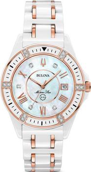 Японские наручные  женские часы Bulova 98R241. Коллекция Diamonds