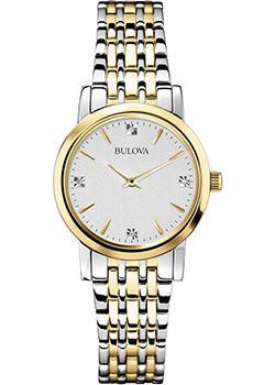 Японские наручные  женские часы Bulova 98S115. Коллекция Diamonds