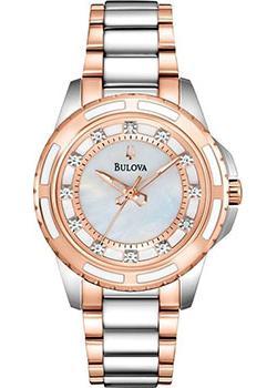 Японские наручные  женские часы Bulova 98S134. Коллекция Diamonds