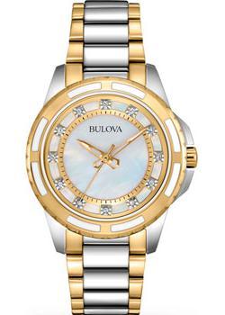 Японские наручные  женские часы Bulova 98S140. Коллекция Ladies Diamond